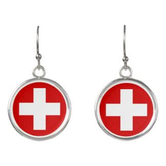 スイス連邦共和国の旗 イヤリング