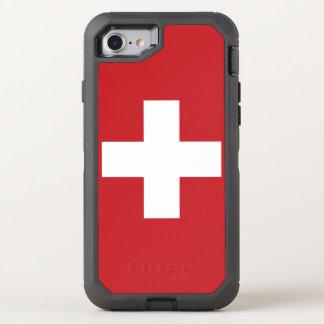 スイス連邦共和国の旗 オッターボックスディフェンダーiPhone 8/7 ケース