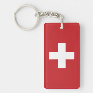 スイス連邦共和国の旗 キーホルダー