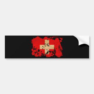 スイス連邦共和国の旗 バンパーステッカー