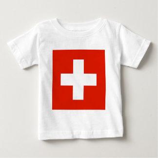 スイス連邦共和国の旗 ベビーTシャツ