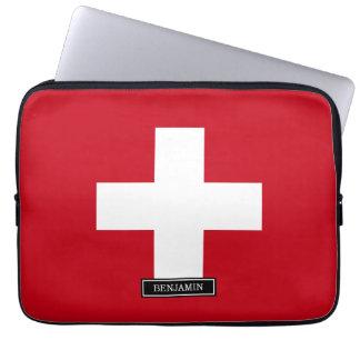 スイス連邦共和国の旗 ラップトップスリーブ