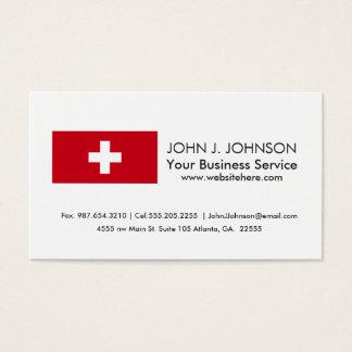 スイス連邦共和国の旗 名刺