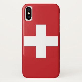 スイス連邦共和国の旗 iPhone X ケース