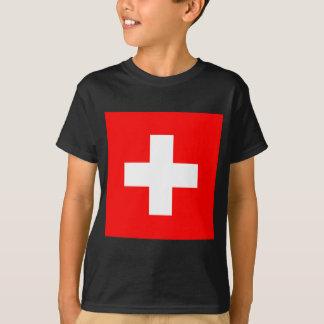スイス連邦共和国の旗 Tシャツ