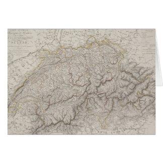 スイス連邦共和国の旧式な地図 カード