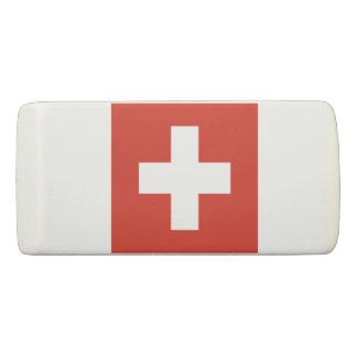 スイス連邦共和国の消す物の旗 消しゴム