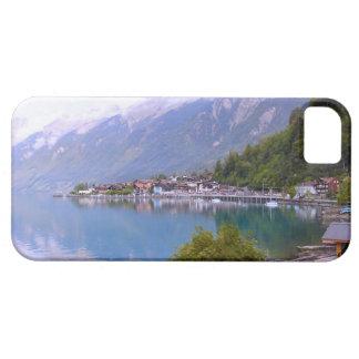 スイス連邦共和国の湖畔の村、Thunersee iPhone SE/5/5s ケース