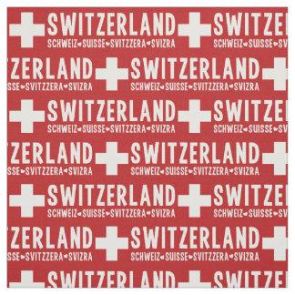 スイス連邦共和国の習慣の生地 ファブリック
