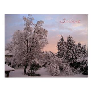 スイス連邦共和国の降雪 ポストカード