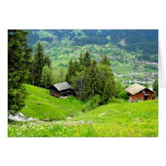 スイス連邦共和国の高山の夏 カード