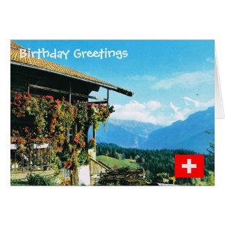 スイス連邦共和国のJungfrauの範囲のfromBeatenberg カード