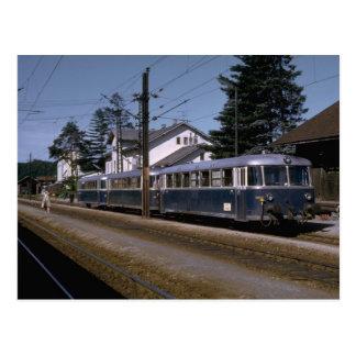スイス連邦共和国のOBBモーター列車セット1973年 ポストカード