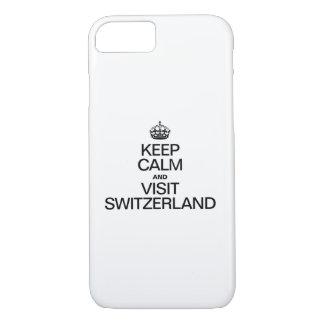 スイス連邦共和国穏やか、訪問保って下さい iPhone 8/7ケース