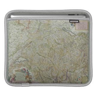 スイス連邦共和国2の地図 iPadスリーブ