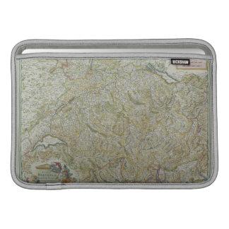 スイス連邦共和国2の地図 MacBook スリーブ