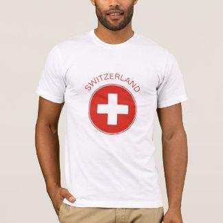 スイス連邦共和国-スイスの旗のTシャツ Tシャツ