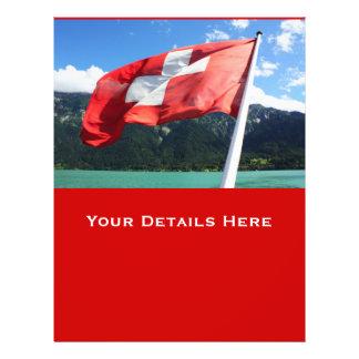 スイス連邦共和国|旗 チラシ広告デザイン