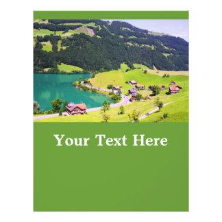 スイス連邦共和国|景色 チラシ広告デザイン