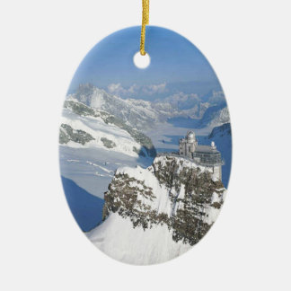 スイス連邦共和国、Jungfraujochのヨーロッパの上 セラミックオーナメント