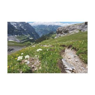 スイス連邦共和国- Lauterbrunnenの谷-キャンバス キャンバスプリント