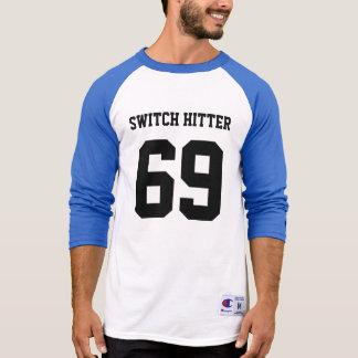スイッチヒッターの野球 Tシャツ