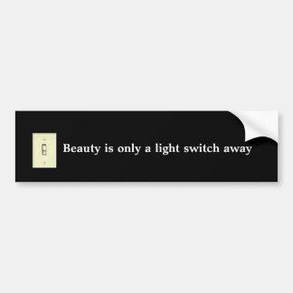 スイッチ、美しいは遠くになスイッチだけです バンパーステッカー