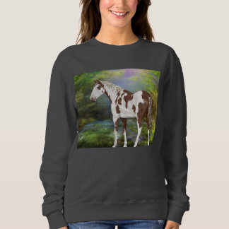 スイバのToveroのペンキの馬のプリント スウェットシャツ