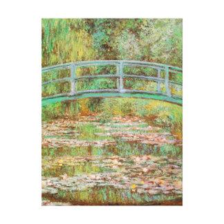 スイレンおよび橋Monetの日本のなファインアート キャンバスプリント