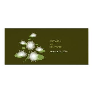 スイレンのエレガントでシンプルでコンテンポラリーな結婚式 10.2 X 23.5 インビテーションカード