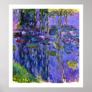スイレンの池の反射のクロード・モネのファインアート ポスター