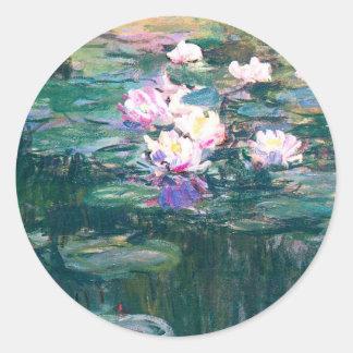スイレンの池のMonetのファインアートの特別の日 ラウンドシール
