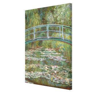 スイレンの池上のMonetの芸術橋 キャンバスプリント
