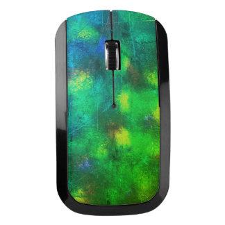 スイレンの浮いている葉の緑の無線電信のマウス ワイヤレスマウス
