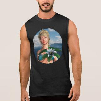 スイレンの花を持つ人魚 袖なしシャツ