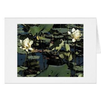 スイレンの花 カード