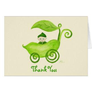 スイートピーの男の子はNotecard感謝していしています カード