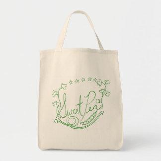 スイートピーの買い物袋 トートバッグ