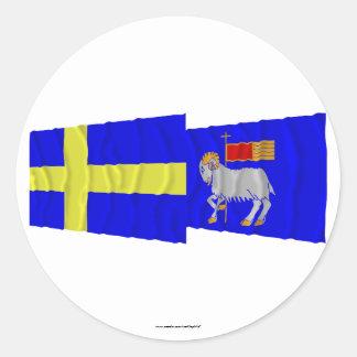 スウェーデンおよびGotlandsのlänの振る旗 ラウンドシール