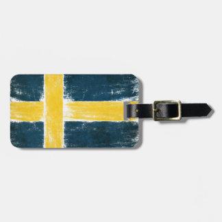 スウェーデンからの旗が付いている荷物のラベル ラゲッジタグ