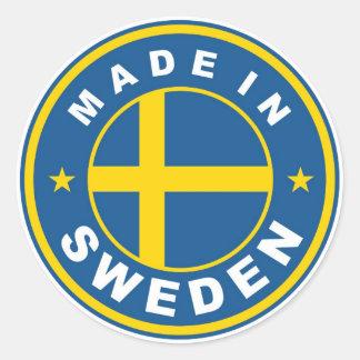 スウェーデンでなされるプロダクト国旗のラベル ラウンドシール