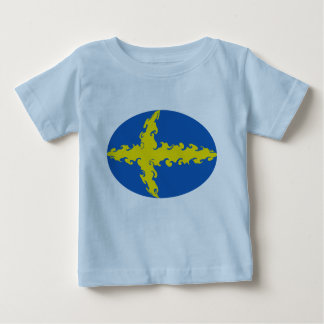 スウェーデンのすごい旗のTシャツ ベビーTシャツ