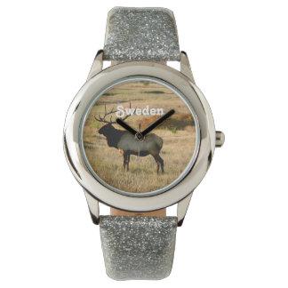 スウェーデンのオオシカ 腕時計