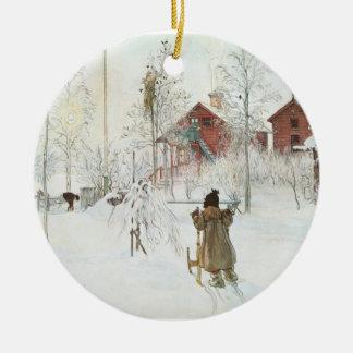 スウェーデンのカールラーションのクリスマス セラミックオーナメント