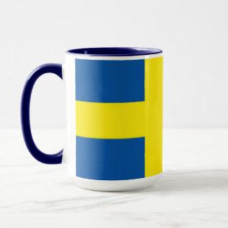 スウェーデンのスウェーデンの旗のマグ マグカップ