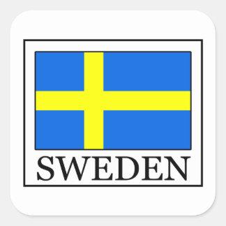 スウェーデンのステッカー スクエアシール