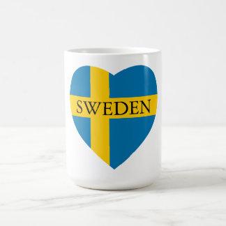 スウェーデンのハート コーヒーマグカップ
