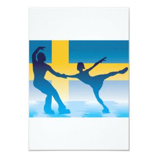 スウェーデンのフィギュアスケート選手の招待状 カード