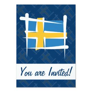 スウェーデンのブラシの旗 カード
