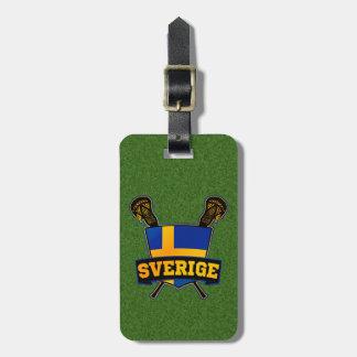 スウェーデンのラクロスの荷物のラベルのテンプレート ラゲッジタグ